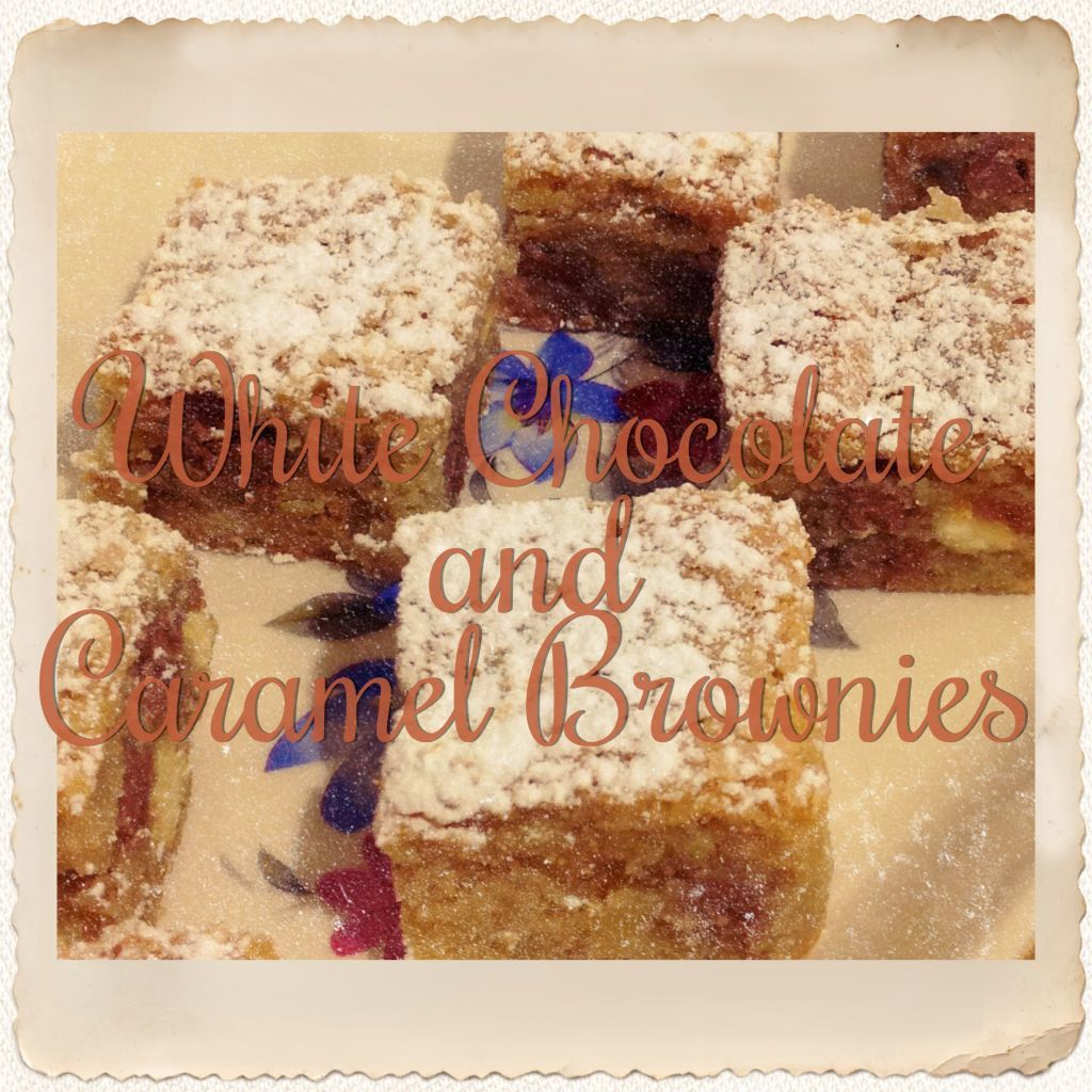 White Chocolate and Caramel Brownies (Thermomix Method Included)